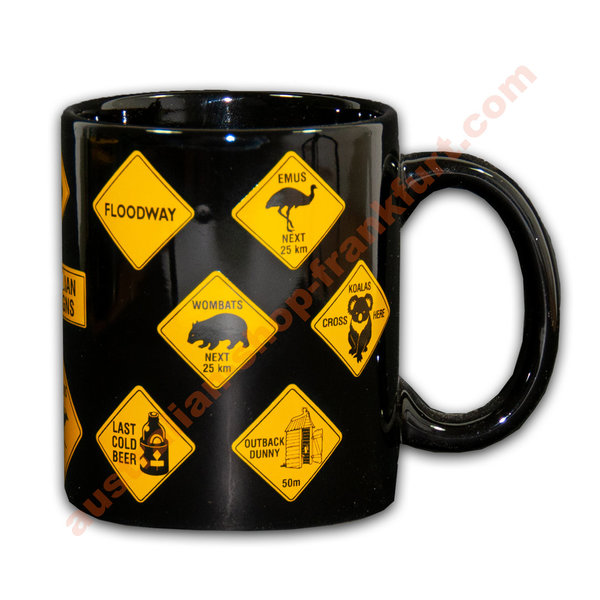 Tasse- Warning signs- black w.all WS