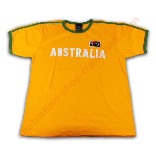 T Shirt AUSTRALIA-  Green & Gold
