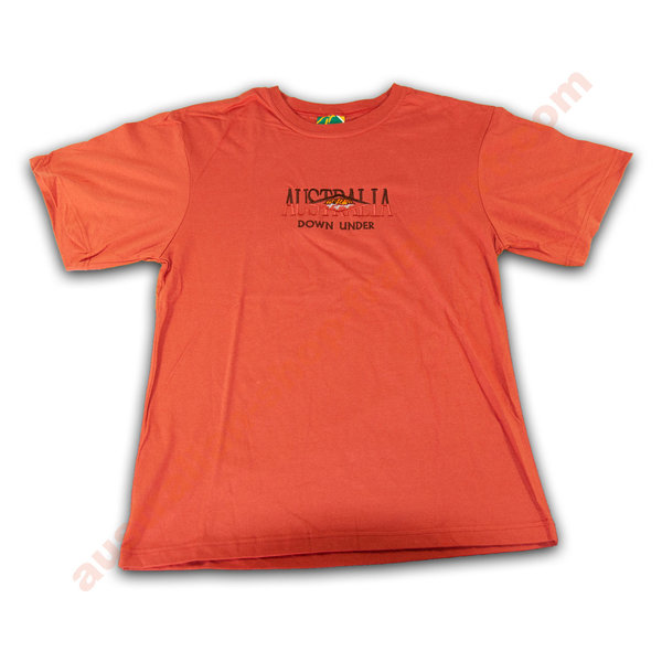 T-Shirt  -  Australia Down Under -orange/rot