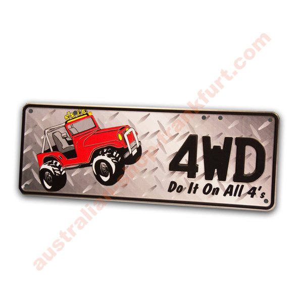 Number Plates - 4WD