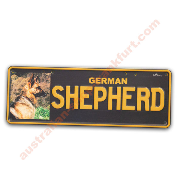 Number Plates - German Shepherd